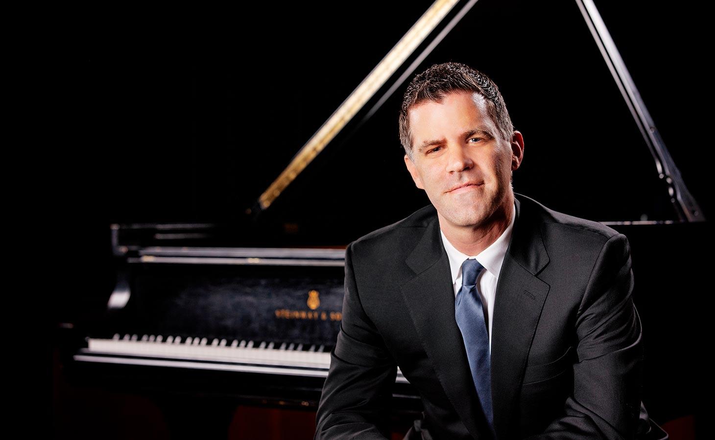 Joseph Rackers at piano
